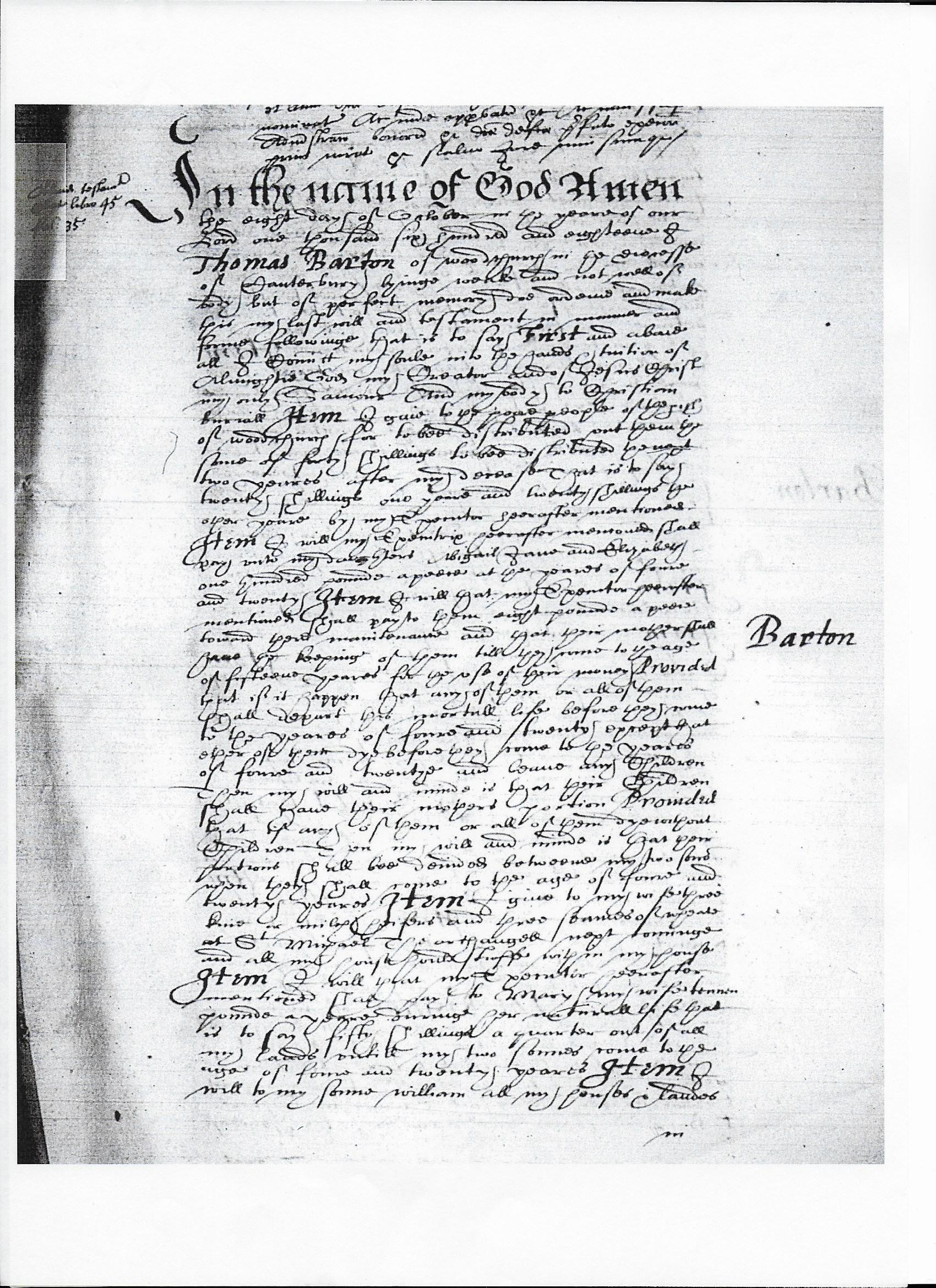 Thomas Barton (   -bur1618) Probate of Estate